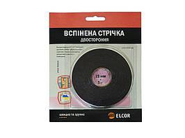 Двостороння Вспененная лента ELCOR TREVAb195 19мм * 5м черная