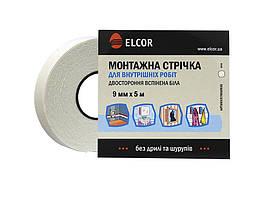 Двусторонняя Вспененная монтажная лента для внутренних работ ELCOR TRIXPE95 9мм * 5м белая