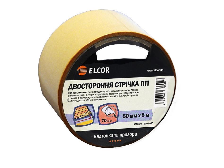 Двусторонняя лента ELCOR TRPP5005 50мм * 5м на полипропиленовой основе