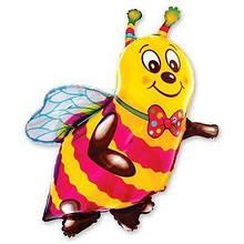 "Фольгована кулька велика фігура Бджола 38"" 97см Flexmetal"