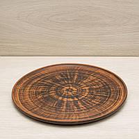 Тарелка из красной глины плоская, диаметр 25 см, фото 1