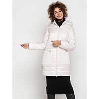Красивая женская куртка цвет молочный весна-осень до 62 размера