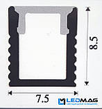Светодиодный профиль узкий + крышка для LED ленты накладной 8,5х7,5 мм, фото 2