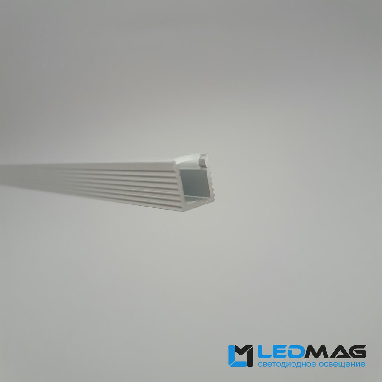 Светодиодный профиль узкий + крышка для LED ленты накладной 8,5х7,5 мм