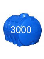 Емкость горизонтальная пластиковая объем 3000 литров ребро. Емкость армирована ребрами, транспортная
