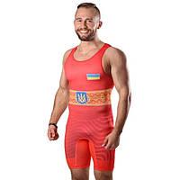 Трико борцовское мужское Berserk Wrestler Approved UWW красное