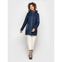 Женская куртка весна-осень стеганная с капюшоном