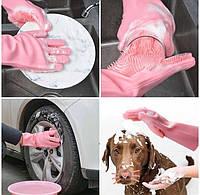 Силиконовые перчатки для мытья и чистки Magic Silicone Gloves, фото 1