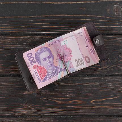Зажим для денег натуральная кожа, фото 2