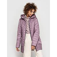 Женская стеганная куртка с капюшоном сезон весна-осень