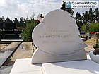 Детский мраморный памятник в виде листика, фото 2