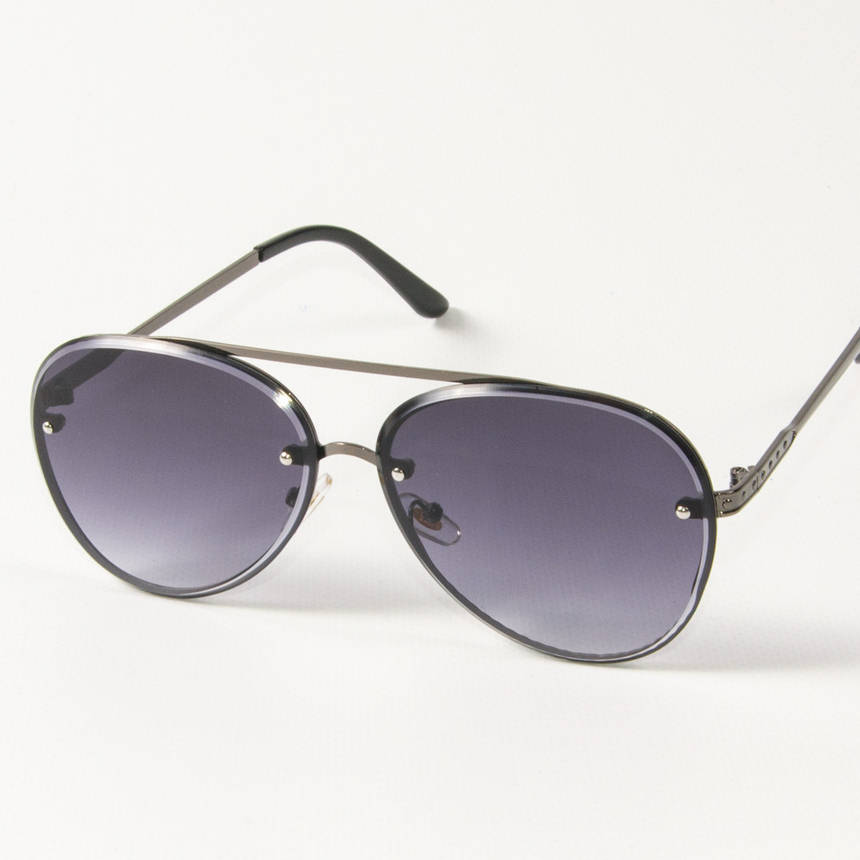 Оптом солнцезащитные очки авиаторы (арт.6247/5) черные, фото 2