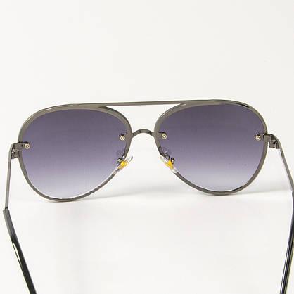 Оптом солнцезащитные очки авиаторы (арт.6247/5) черные, фото 3