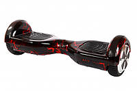 Гироборд Smart Way 6.5 Tao Tao (Приложение к телефону,Bluetooth,самобаланс) Черный с красной молнией