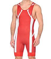 Трико борцовское Asics мужское Wrestling Singlet красно-белое