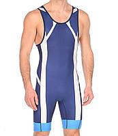 Трико борцовское Asics мужское Wrestling Singlet сине-белое