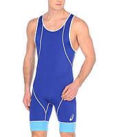 Трико борцовское Asics мужское Wrestling Single голубое