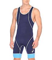 Трико борцовское Asics мужское Wrestling Single синее