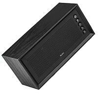 Портативная деревянная акустика OneDer V2 Bluetooth колонка Black