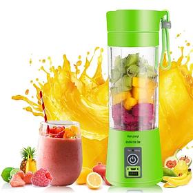 Фітнес блендер - шейкер Smart Juice Cup Fruits USB для коктейлів та смузі Зелений