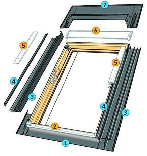 Комір до мансардного вікна Roto Designio Оклад до мансардного окна Roto Designio 94/140