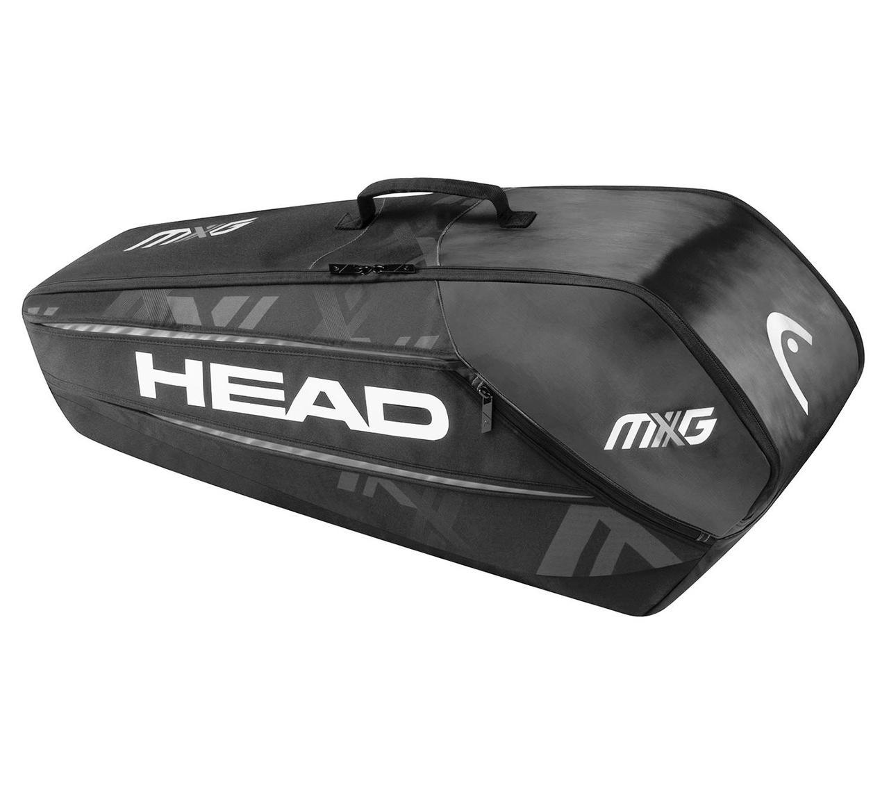 Чехол для ракеток для б/тенниса Head MXG 6R Combi black/silver
