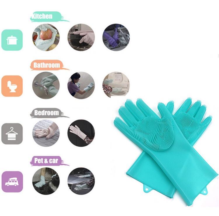 Силиконовые перчатки для мытья и чистки Magic Silicone Gloves