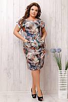 Женские летние легкие платья в размерах:50,52,54,56.