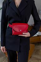Поясная сумка красного цвета Udler