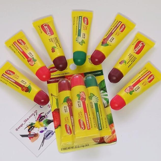 Лечебный бальзам тюбик для губ Carmex  SPF 15, без блистера! Вкусы выбираем!