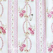 33022 Нежный орнамент шебби. Хлопковые ткани для шитья и рукоделия. Подойдет для пэчворка., фото 2