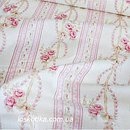 33022 Нежный орнамент шебби. Хлопковые ткани для шитья и рукоделия. Подойдет для пэчворка., фото 3