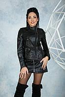 Куртка Кожаная Замшевые Вставки 071МК