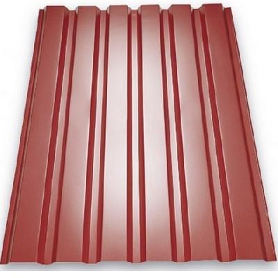 Профнастил ПС-10 950x2000 мм вишневый (RAL 3005) (лист)