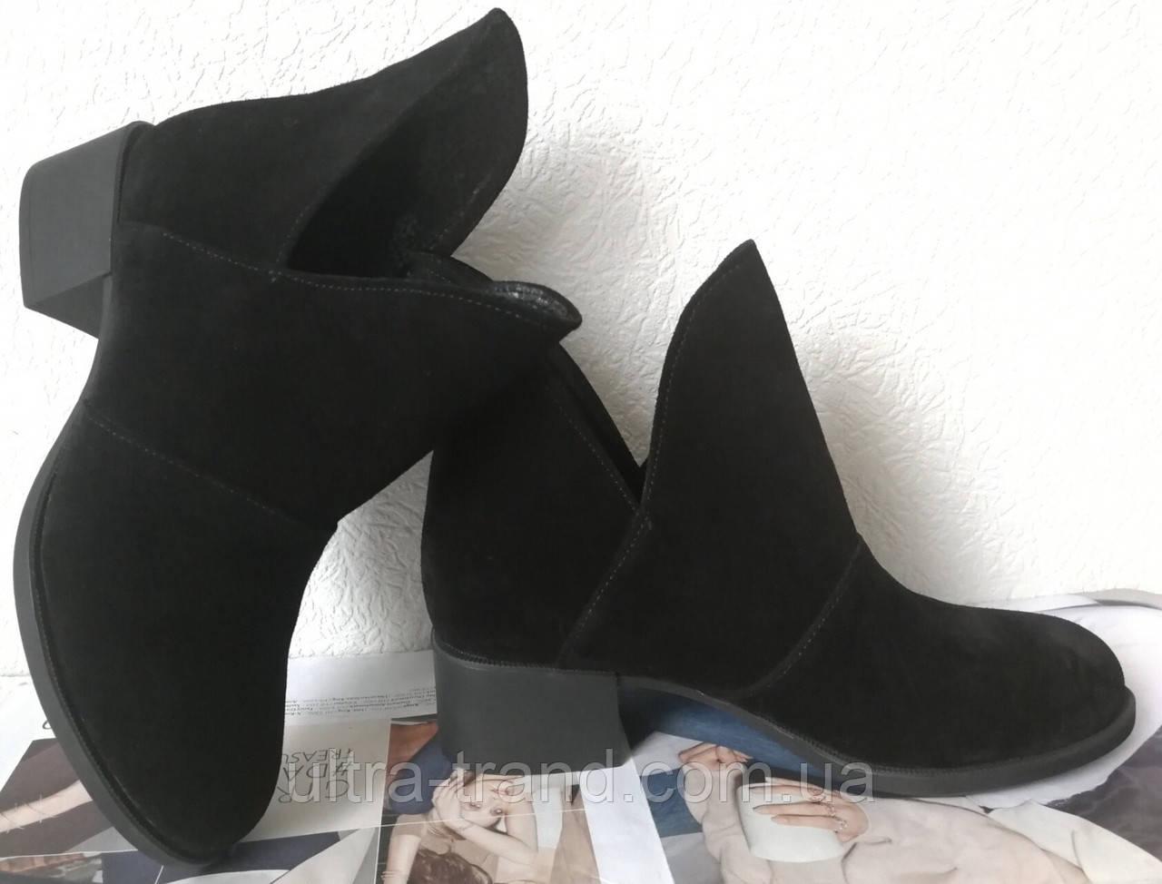 Jimmy Choo! женские демисезонные ботинки, маленький удобный каблук натуральный замш