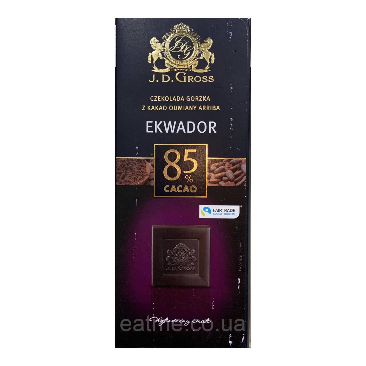 J.D.Gross Чёрный шоколад 85% какао
