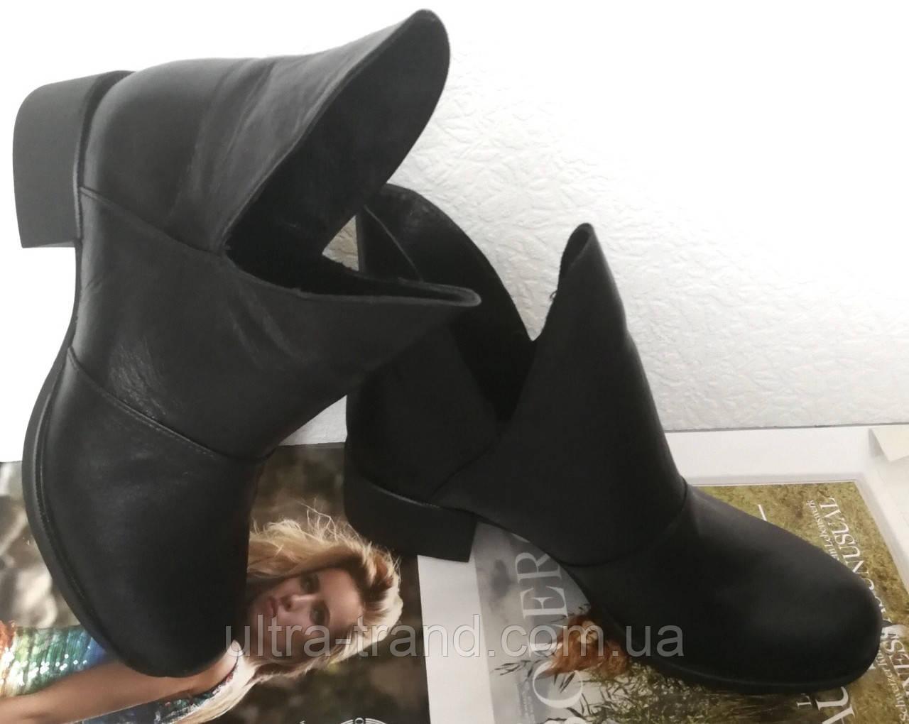 Jimmy Choo! женские демисезонные ботинки, маленький удобный каблук натуральная кожа