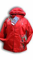 Куртка женская горнолыжная. Azimuth. Красная. Большие размеры. 8954