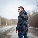 Чоловіча стильна куртка Y. L. Z весна-осінь. Колір - темно-сірий. Хмельницький, фото 3