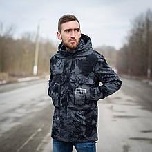 Чоловіча стильна куртка Y. L. Z весна-осінь. Колір - темно-сірий. Хмельницький