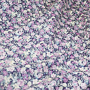 48001 Розовый аромат (сиреневая). Ткани с цветочками для кукол, рукоделия, декора и шитья., фото 2