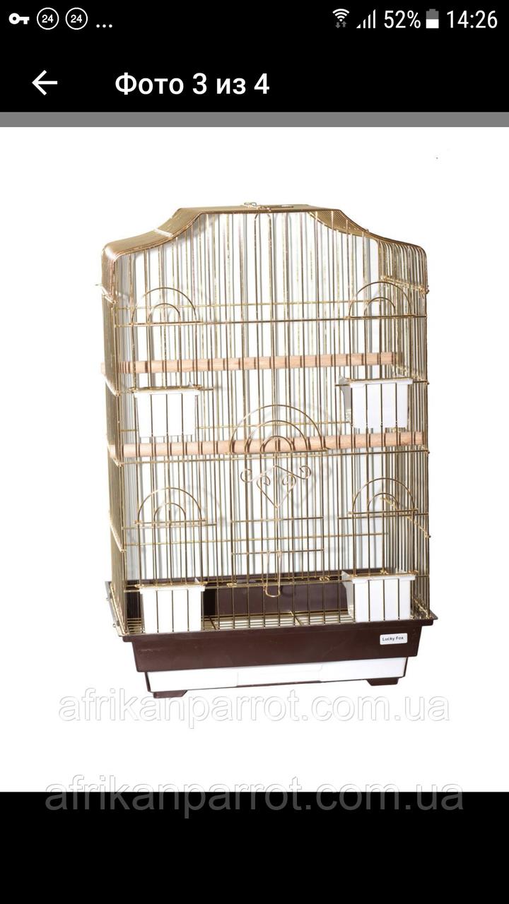 ЗОЛОТА Клітка для папуги 46*36*71см