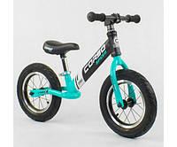 Беговел, велобег CORSO 88671 стальная рама, колесо 12«, надувные колёса