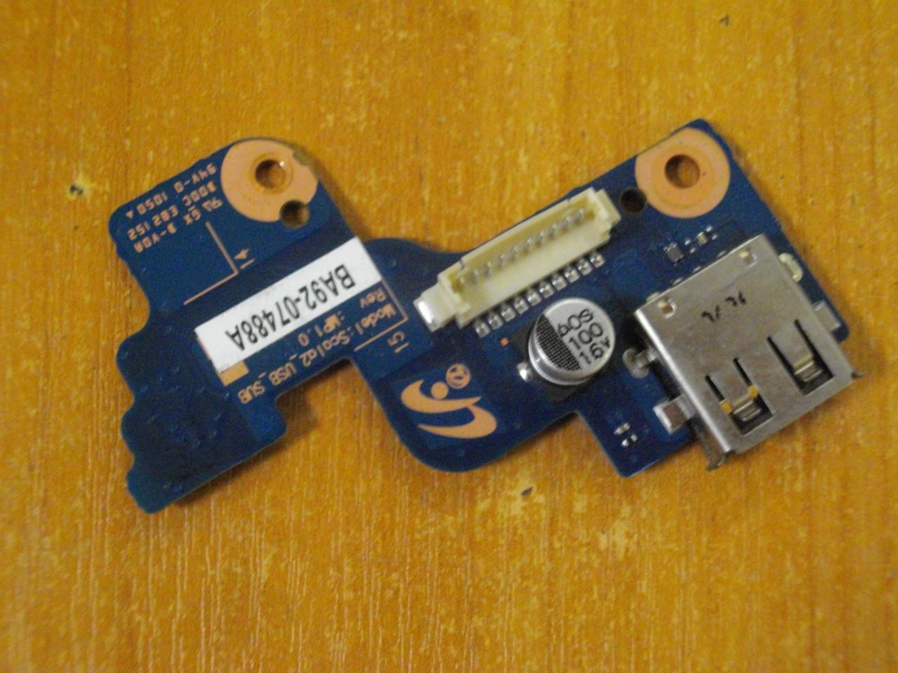 Кнопка включения Samsung NP-RV509, RV509 Плата с кнопкой включения и USB портом BA92-07488A