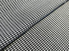 Клетка костюмная гусиная лапка 2 мм, черно-белый