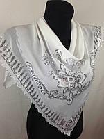 Белый платок с паетками  (цв 102)