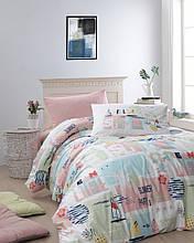 Комплект постельного белья ТМ First Choice ранфорс молодежный  Summer Somon