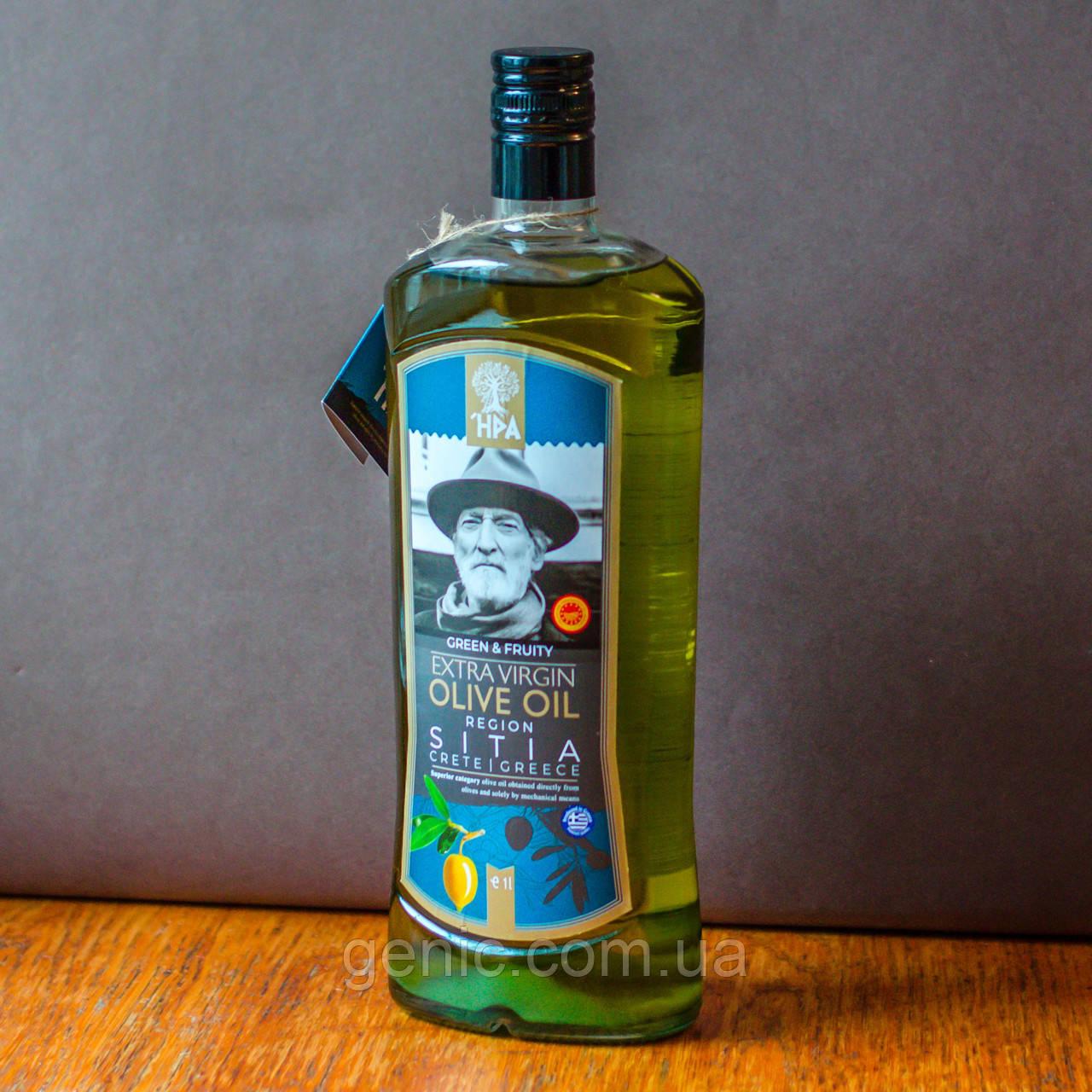 Греческое Оливковое Масло SITIA HPA Extra Virgin (первый отжим) Premium 1л
