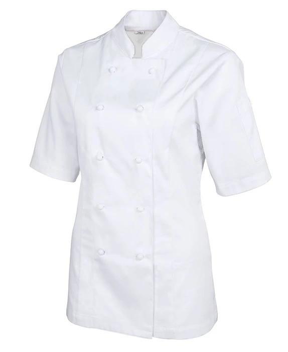 Китель повара женский белый с коротким рукавом Atteks - 00976