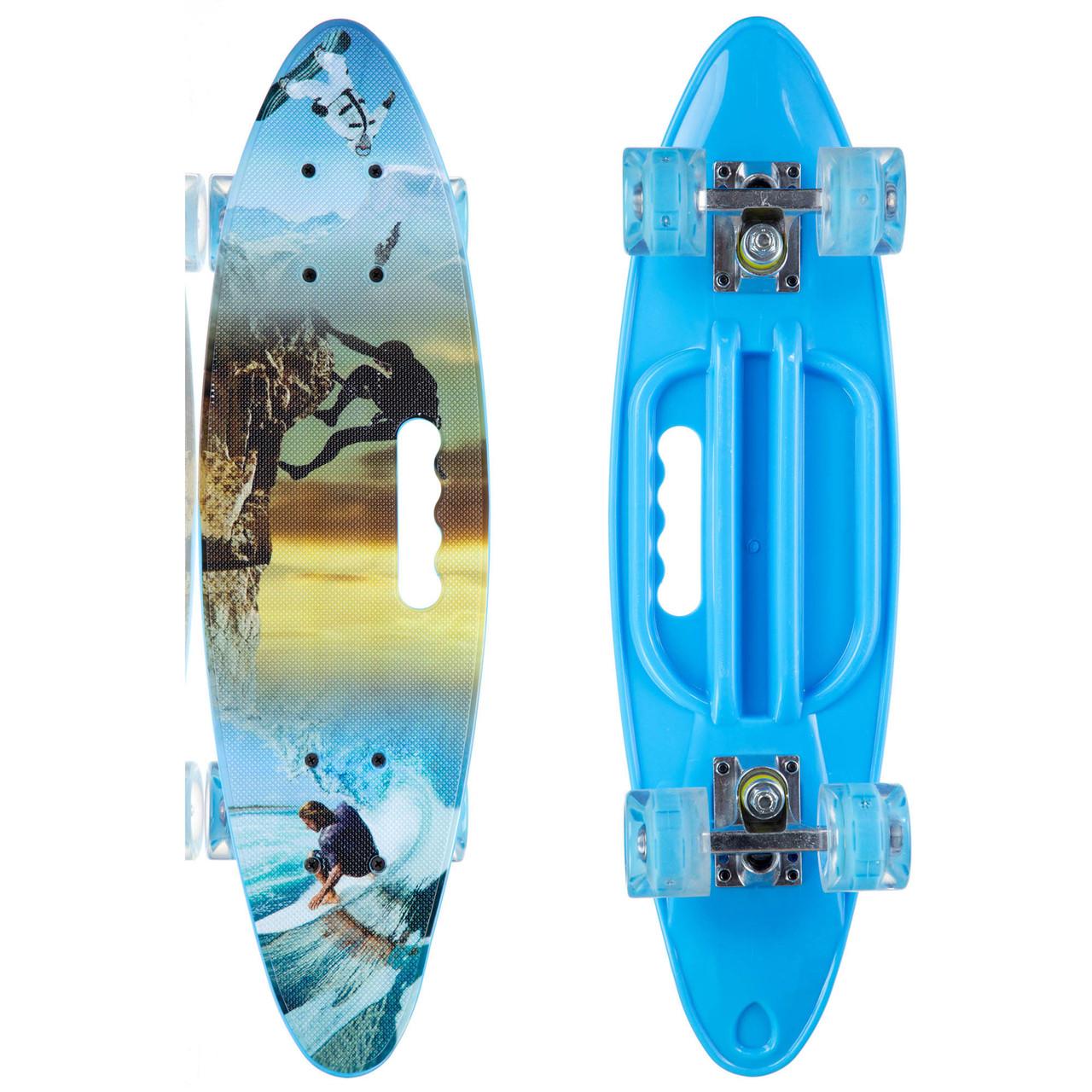Скейтборд круизер SK-885-5 (синий)